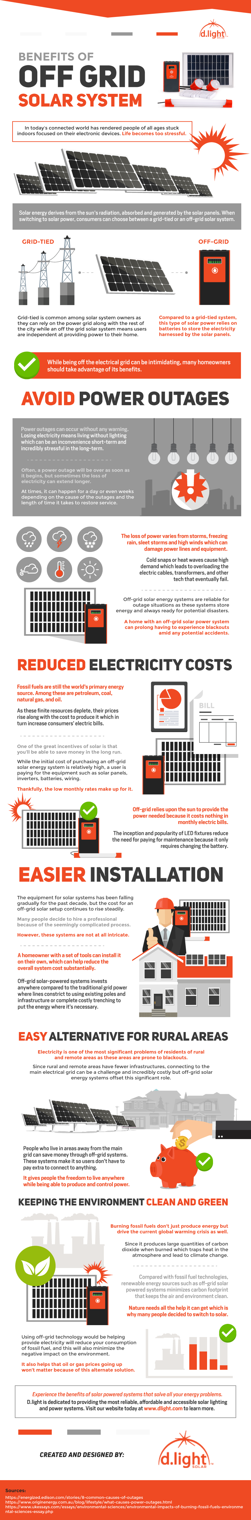 Benefits Of Off Grid Solar System Infographic D Light